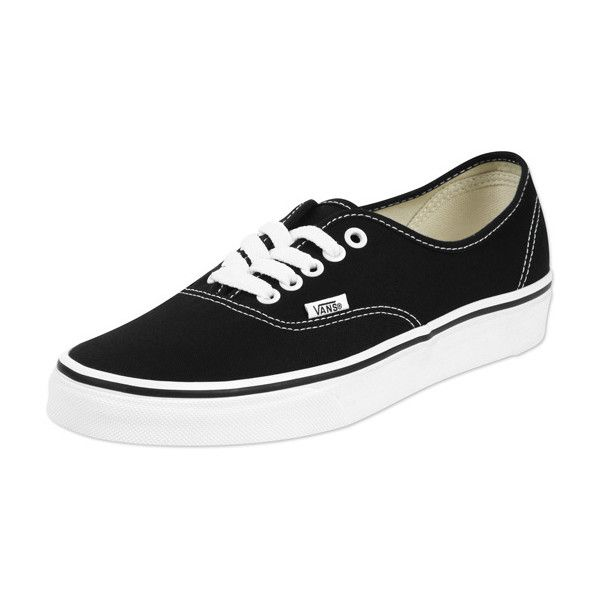Vans Authentic Schuhe schwarz weiß ($73) ❤ liked on Polyvore featuring shoes, sneakers, vans, footwear, tênis, vans footwear, vans shoes, vans trainers and vans sneakers