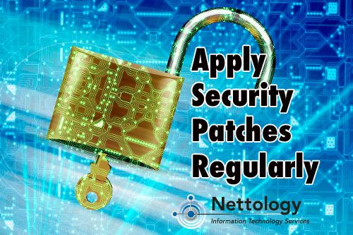 IT Security Tip: Apply security patches regularly – Patches can help keep malware and adware off your computer.