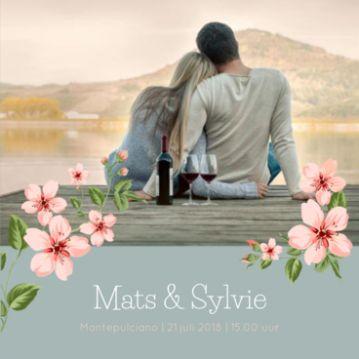 Ontwerp je eigen trouwkaart online en bestel een gratis proefdruk! Voorbeeld: trouwkaart Toscaanse bruiloft
