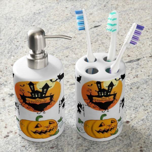 Bath Sets Halloween Bathroom Pinterest Bath and House - halloween bathroom sets