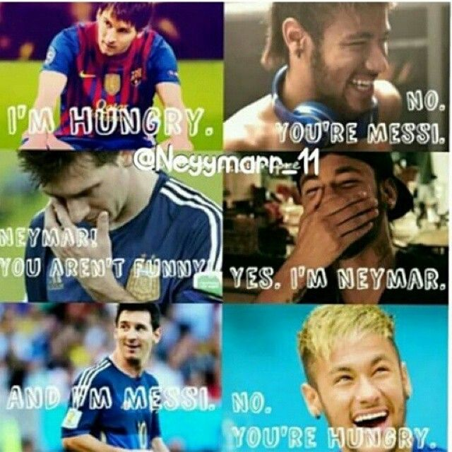 The sad thing is : I can actually think of Neymar sayng this....XD XD XD