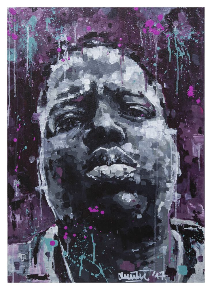 NOTORIOUS Biggie Acrylic on canvas, 50x70