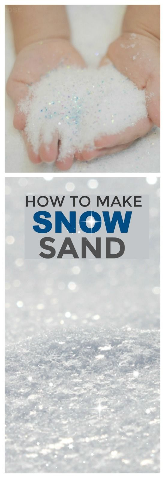 HOW TO MAKE SNOW SAND for kids.  I can't wait to try this!