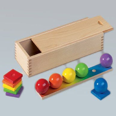 this is listed as a gift but I have no idea where it would fit in Froebel's list of Gabe. the spheres are pretty though.