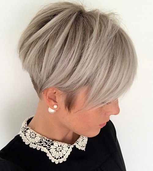 Silver Gray Pixie Undercut