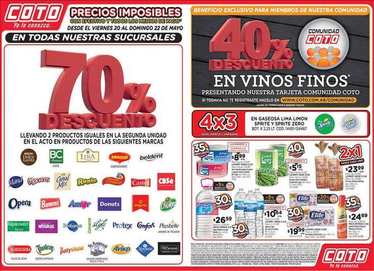Ofertas Coto Mayo 2016