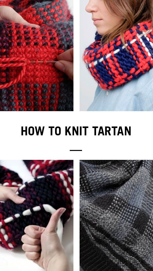 How to make tartan with knitting - check out the quick 'n' easy tutorial on the Wool and the Gang blog