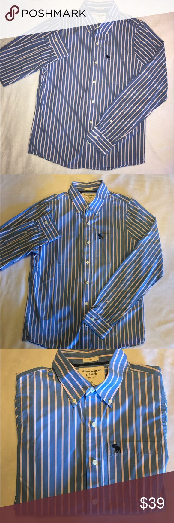 🎁ONE DAY SALE Men's Abercrombie Dress Shirt Men's Abercrombie & Fitch Muscle Fit Dress Shirt - Size Large - Like New, Only Worn Once. Abercrombie & Fitch Shirts Dress Shirts