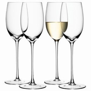 LSA SET 4 WHITE WINE GLASS CLEAR by LSA