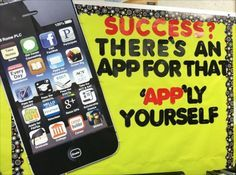 app bulletin board ideas | THERE'S AN APP FOR THAT BULLETIN BOARD: Unite technology and learning ...