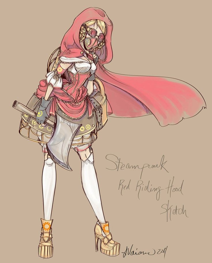 Steampunk Red Riding Hood by ~NoFlutter