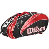 Roger Federer´s bag of choice, the Wilson Federer 15 Pack Bag can be seen on the courts of the 2012 Australian Open. The Wilson Federer 15 Pack Bag has enough room for all your gear. If you need it, use all 3 compartments to carry up to 15 racquets without covers.