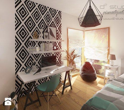 Pokój nastolatki MINT D2 Studio --> www.d2-studio.pl