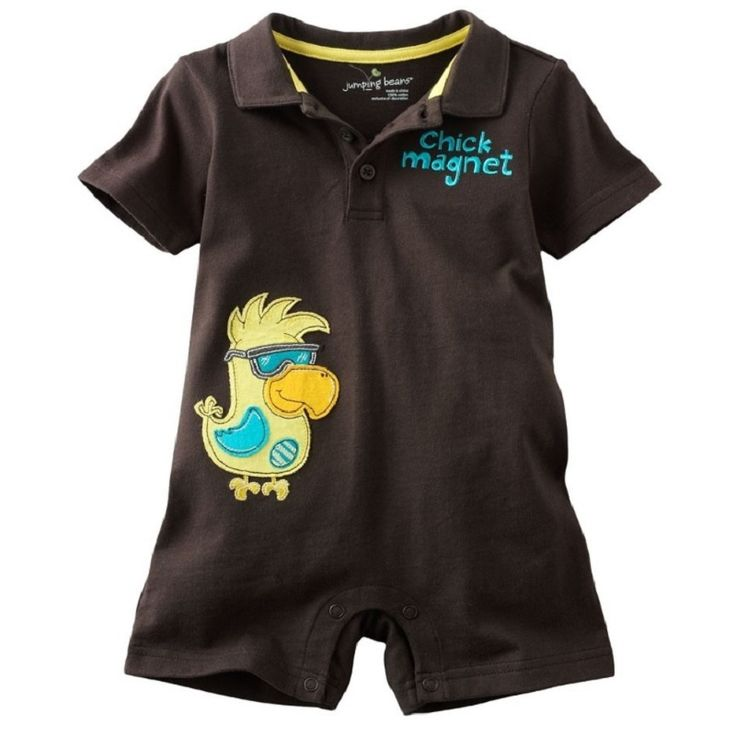 >> Click to Buy << Jumping Beans baby boy clothes bebe jumpsuit baby rompers Brown Chick Magnet newborn romper months costume #Affiliate