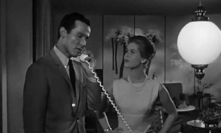henry silva on the phone next to elizabeth montgomery 1963 1
