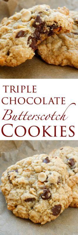 Triple Chocolate Butterscotch Cookies | eBay
