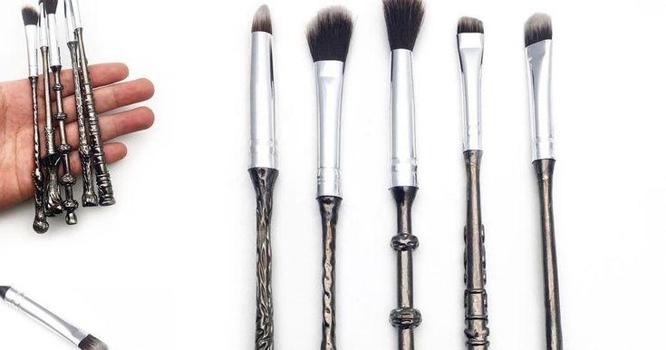 "Lovers of the wizarding world, rejoice! It's as if our ""accio"" summoning charm actually worked: The Harry Potter makeup product of our dreams is officially here. New beauty brand ""Storybook Cosmetics"" announced their Harry Potter makeup brushes via I"