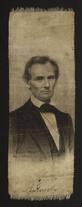 A. Lincoln campaign ribbon, 1860