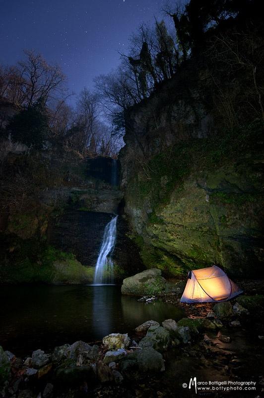 Falling asleep to this! #Camping #Waterfall