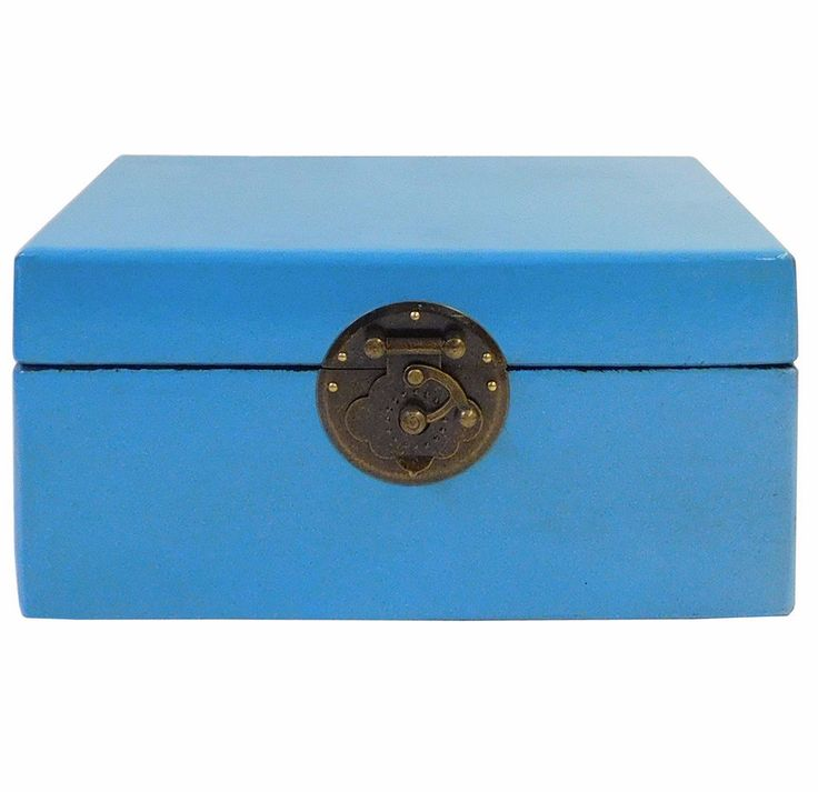 Chinese Light Blue Rectangular Shape Container Box cs1814cS