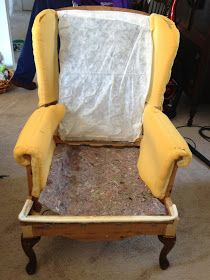 DIY - How to reupholster a wing back chair (Queen Anne).