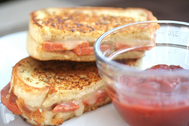 fast: grilled cheese pizza