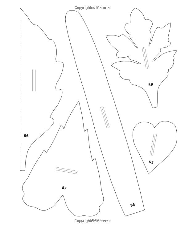 252 best floral stencils templates silhouettes 2 images for Paper flower templates martha stewart