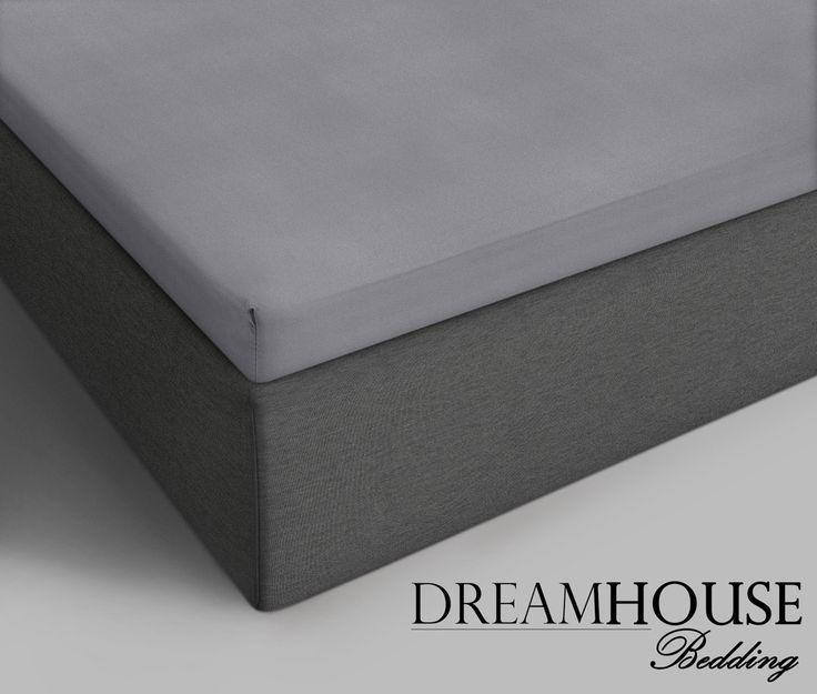 Dreamhouse Bedding - Katoen - Grijs Afmeting: 180 x 220 - Dreamhouse Bedding Katoenen Topper Hoeslaken - Grijs