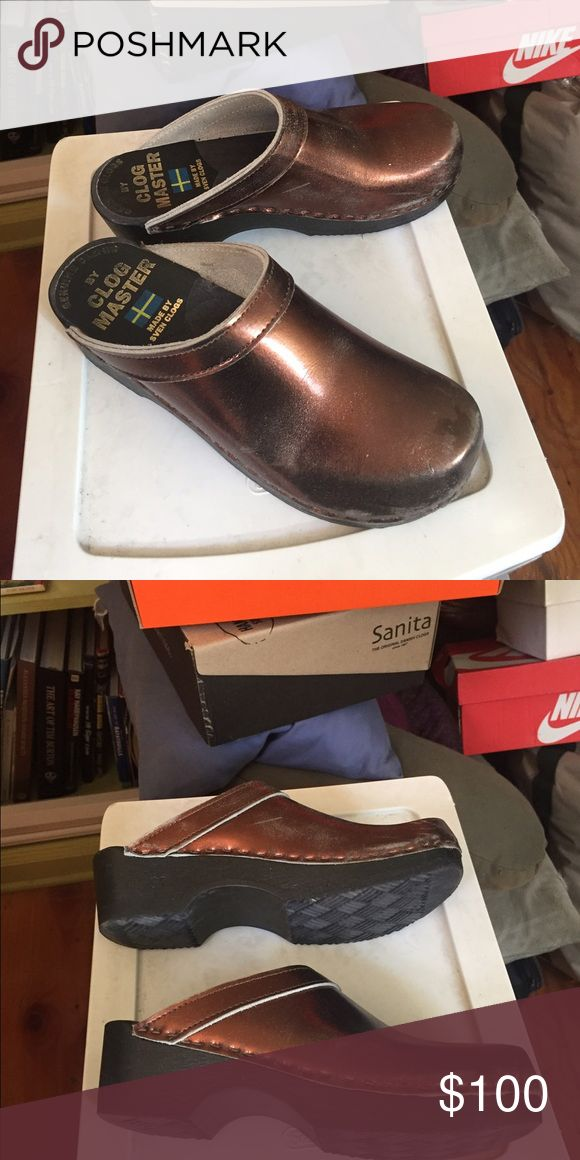 Sven Clogs size 7 Copper metallic Sven Clogs!  Womens size 7.  Only worn once or twice, excellent condition, just a few light scuffs on the top.  Very comfortable and sturdy Sven Shoes Mules & Clogs