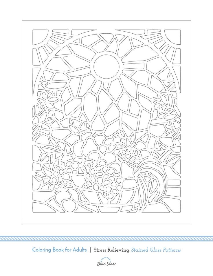 We Cant Get Enough Of Stained Glass Patterns Heres A Free Adult Coloring Book Image From Our On Amazon