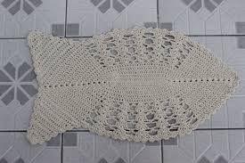 Crochê Gráfico: Tapete peixe em crochê