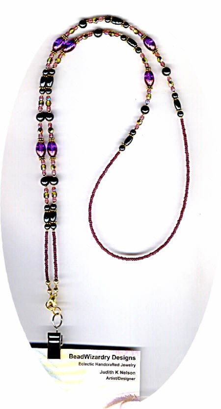 Think I am going to make a beaded lanyard like this...