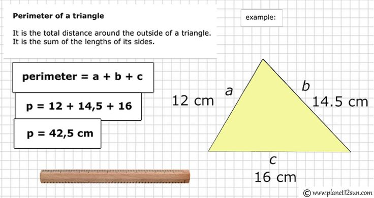 How to calculate perimeter of a triangle.