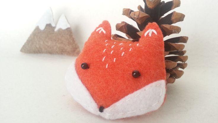 Spilla volpe in feltro : Spille di cutethings  #felt #brooch #cute #fox #foxy