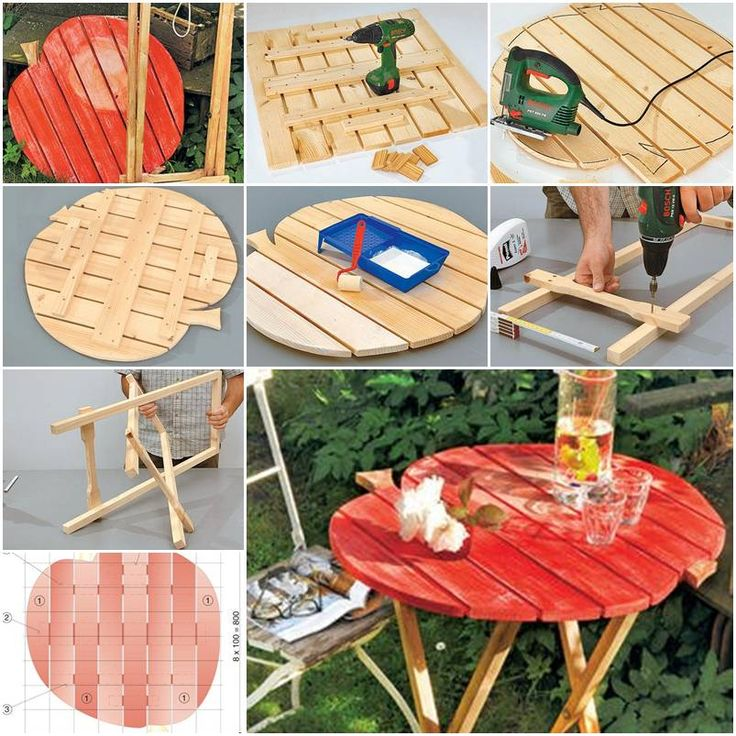 how to make garden folding table step by step diy tutorial instructions how to how to do diy. Black Bedroom Furniture Sets. Home Design Ideas