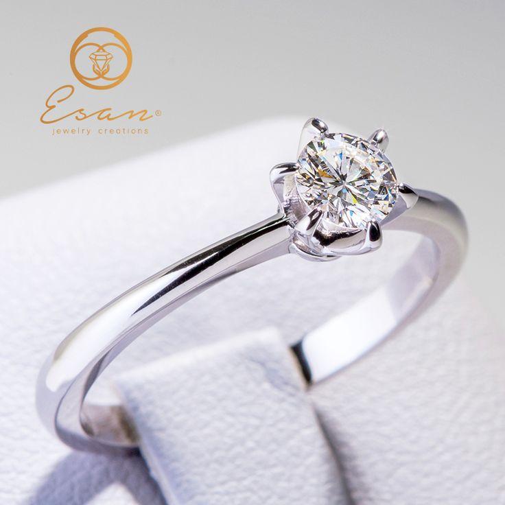 Inel de logodna din aur cu diamant ES9