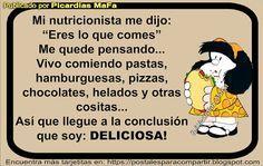 Mundo de Postales: MI NUTRICIONISTA ME DIJO...