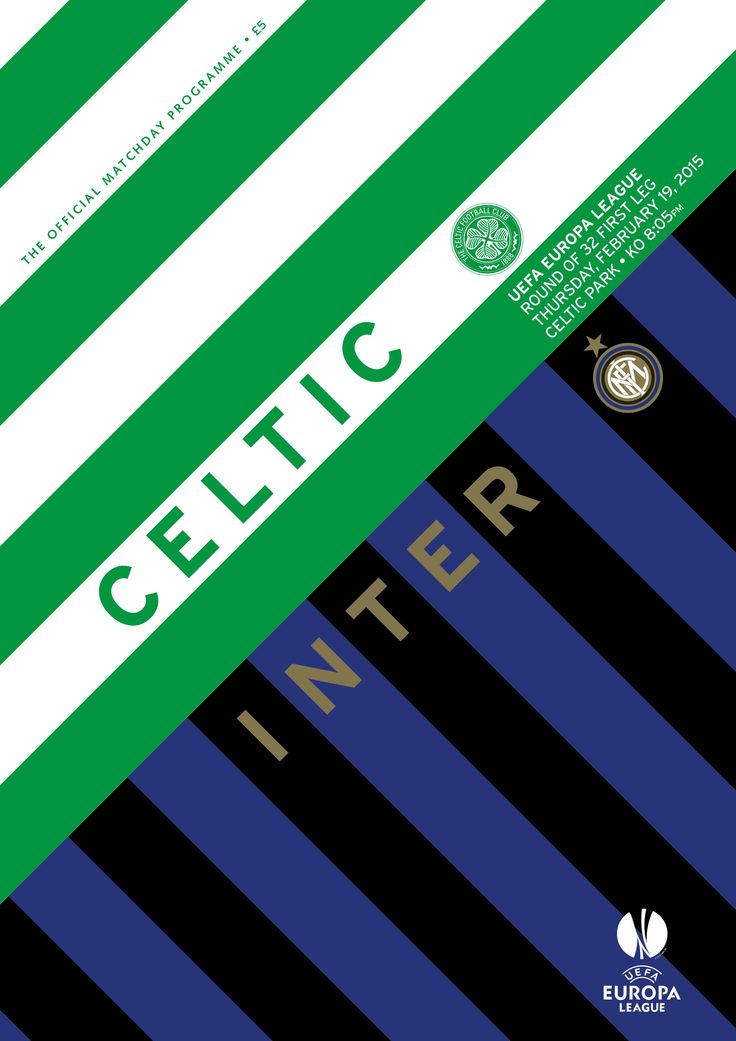 Celtic v Inter Milan special programme.  Click on the image to order now.