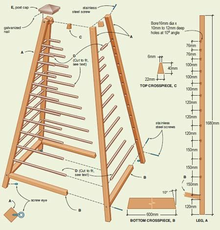 wooden obelisk plans
