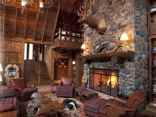 Dress your home or hunting lodge decorations interiors for Cabin decor