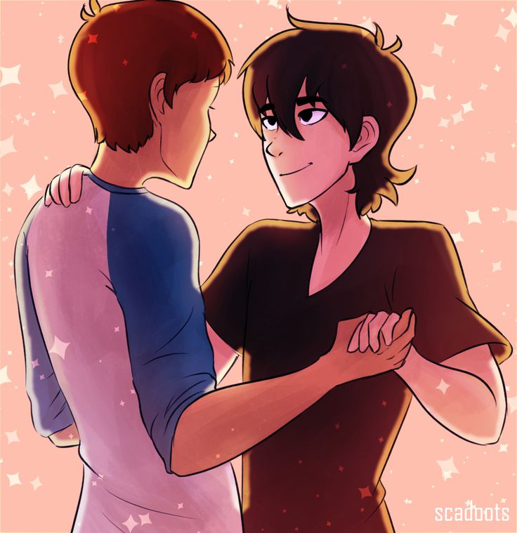 Felt like drawing some dancing klance ^^