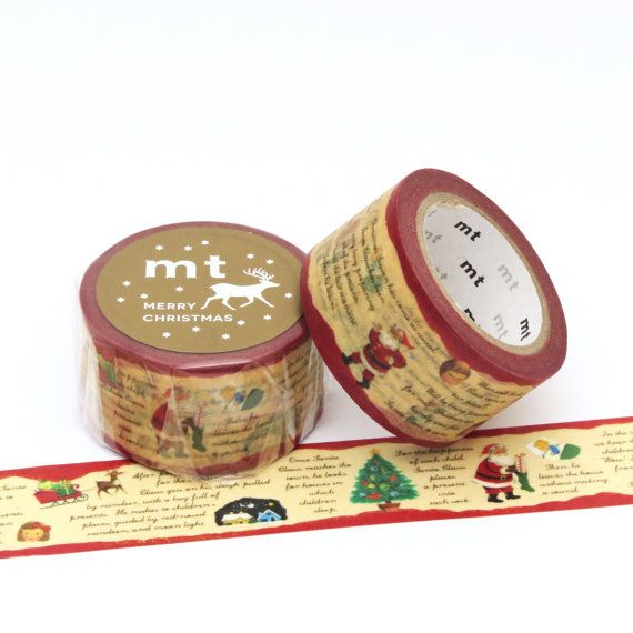 MT Tape Wide Christmas Story Washi Tape by Hobbyhoppers on Etsy