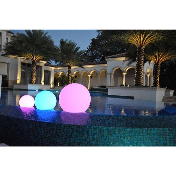 PublicLight LED Illuminated Orb Lights Floating Pool Balls/ Floor Lamps/ Hanging Lanterns