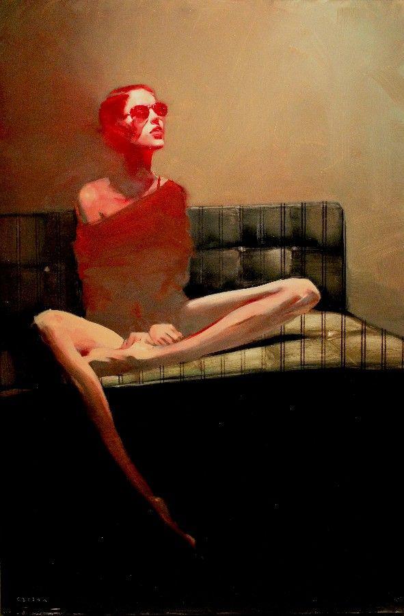 "Michael Carson- ""Red Haze""- Contemporary Artist - Figurative Painting"