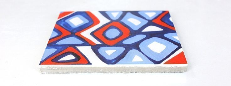 cement tile - lithograph - postcards from myself - ruan hoffmann