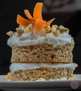 Paleo Carrot Cake with a Vanilla coconut Cream Frosting