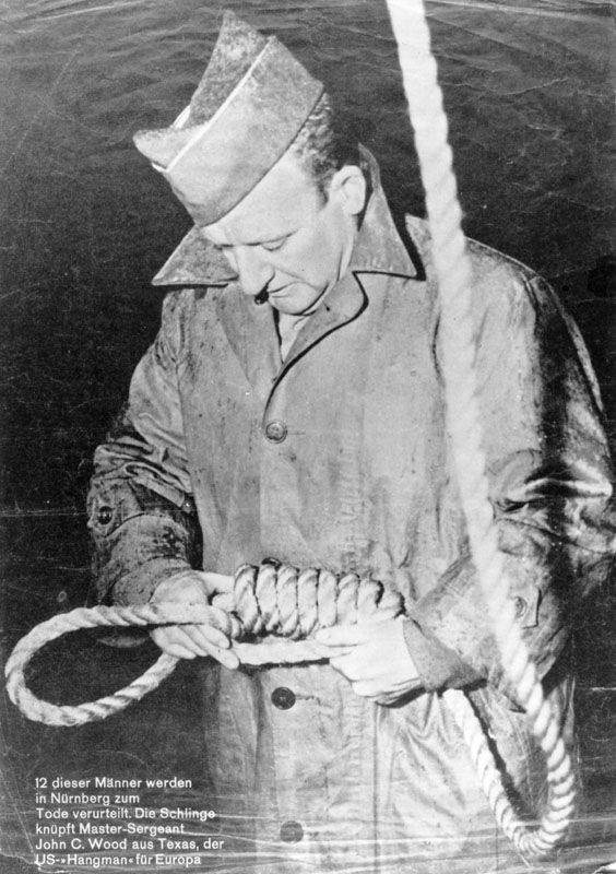 Master Sergeant, John C. Wood, Military Hangman during the Nuremberg Trials.