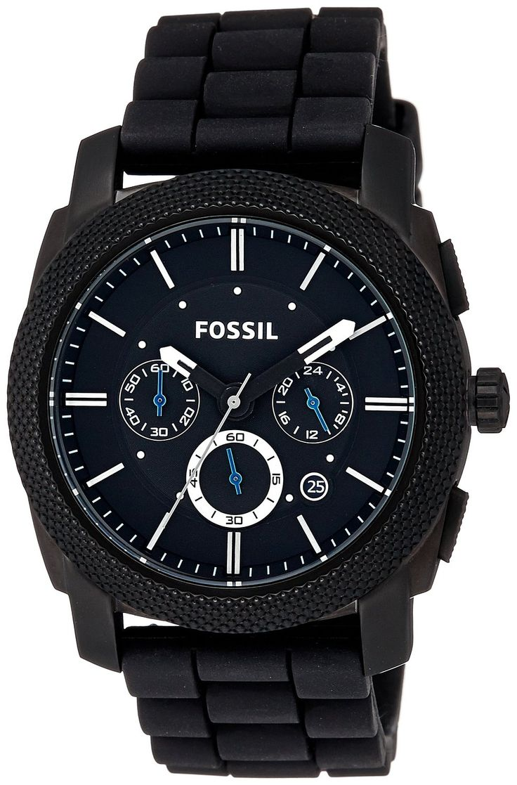 Fossil FS4487 Machine Chronograph Analog Black Dial Men's Watch