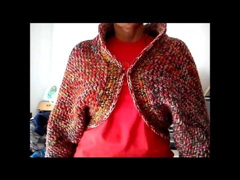 M If you have itty bitty bits of scrap yarn this shrug that looks like the carpet bags of old is the perfect project to get rid of them. It is done on the 41 p...