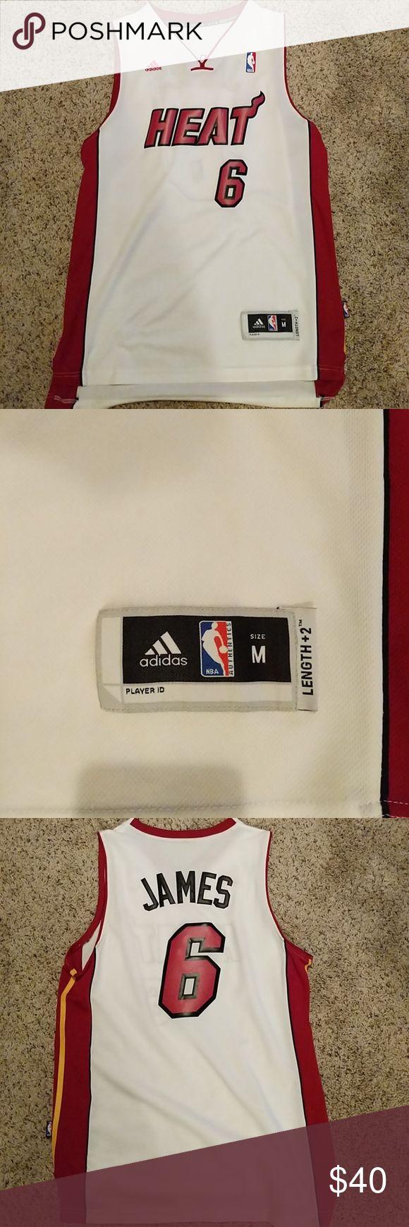 Lebron James Heat Jersey Mens medium Perfect condition Lebron James Basketball Jersey adidas Other